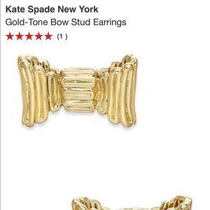 Kate spade gold tone bow earrings